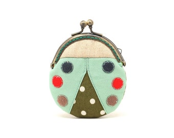 Magical minty beetle mini coin purse