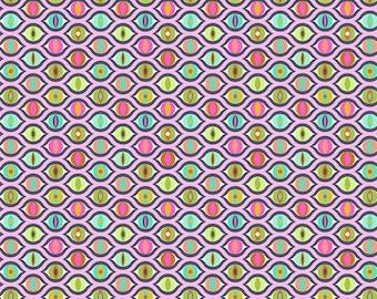 Tula Pink - Tabby Road - Cat Eyes Fabric - Marmalade Skies