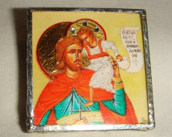 St Christopher Pendant & Pin Brooch Icon inv1827
