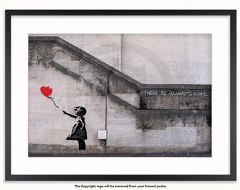 Banksy - Balloon Girl - There is Always Hope Poster