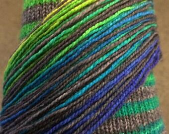 Hand painted GBIV Gradient Stripe Sock Yarn - self striping - 80/20 merino - dyed to order