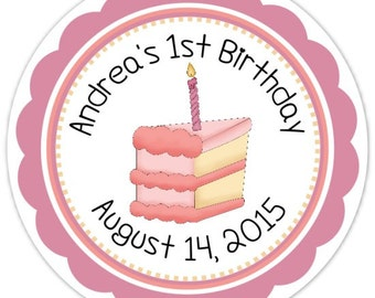 Custom First Birthday Labels, 1st Birthday Stickers, Birthday Decoration, Personalized Children Stickers,