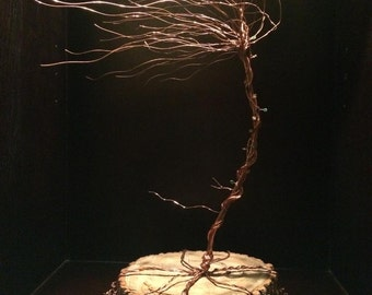 Copper Tree Sculpture - Windswept