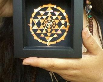 Mini Sri Yantra Mandala - framed