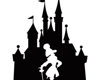 Disney Inspired Captain Hook In Castle Vinyl Decal | Disney Inspired Decal | Castle Sticker | Vinyl Decal | Captain Hook Sticker