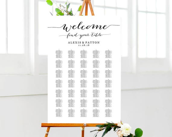 Welcome wedding seating chart templates four templates ccuart Gallery