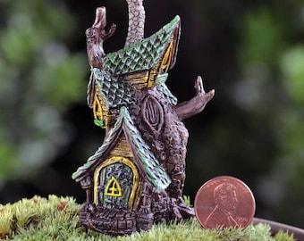 My Fairy Gardens  Mini - Micro Mini Tree House - Miniature Supplies Accessories Dollhouse