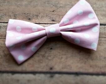 Pink Polka Dot Collar Bow