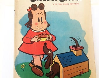 Marges Little Lulu October 1953 Number 64 Dachshund Doghouse Vintage Wheaties Full Page Schwinn Ad Robin Roberts of Philadelphia Phillies