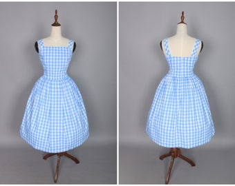 "Lana Dress ""Sea of Love"" Light Blue Gingham"