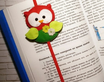 Bookmark owl bookmark Gifts For Readers Felt bookmark Planner Accessories, bookmark Favors Felt gifts Gift For Her Book Marker