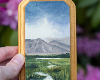 Oil Landscape Painting of Maui - Landscape Painting - Oil Painting - Painting - Mini Art - Hawaii Painting - Painting of Maui