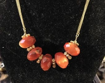 Vintage Chuncky Crystal on Delicate Chain