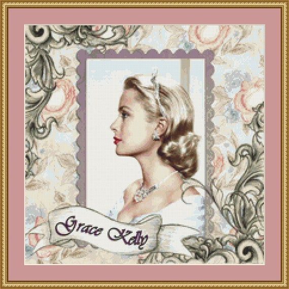 Grace Kelly Cross Stitch Pattern /Digital PDF Files /Instant downloadable