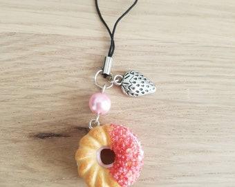 Stuffed Strawberry doughnuts strap