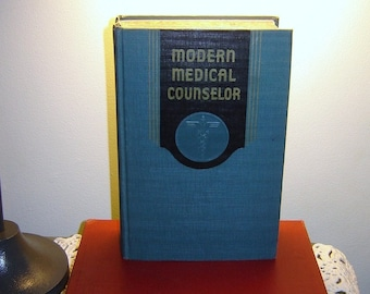 Beautiful Aqua Green Cloth Covered 1943 Modern Medical Counselor Book