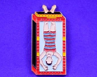 Houdini Magic Soft Enamel Pin // Magician // Cute Pin // Pins //  Enamel Pin // Gifts for her // Gift for Him // Gift ideas // Lapel Pin