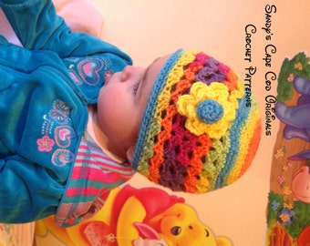 Crochet Mommy and Me Shell Beanie Crochet Pattern pdf 367 worsted weight version