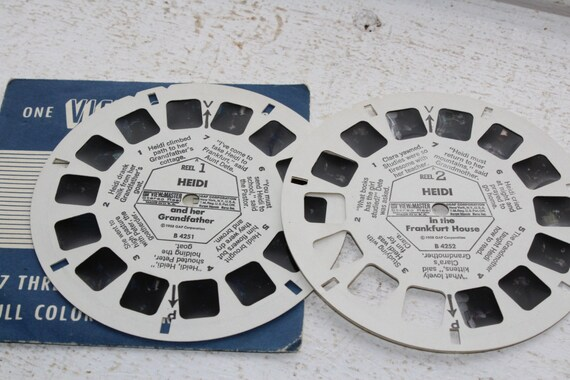 2 Viewmaster Reels Heidi In The Frankfurt Home & Her Grandfather