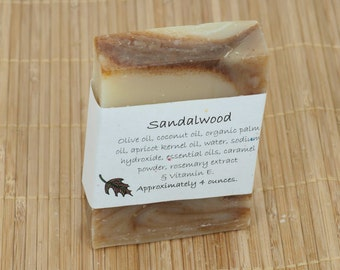Sandalwood Essential Oil Soap, 4 Ounce