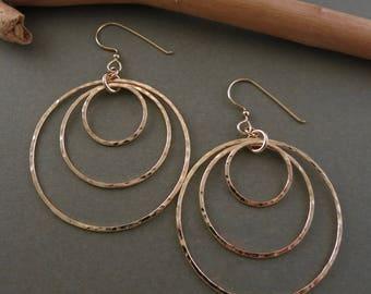 NEW: Triple Hoop Earrings in 14K Gold Fill