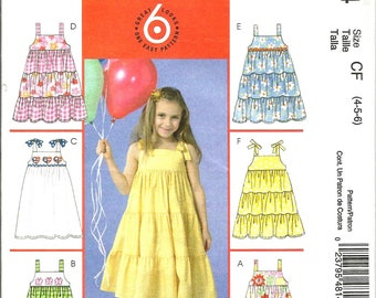 McCalls 4814 uncut size 4 - 6 girls sundress