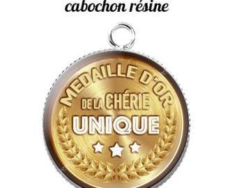 20 mm resin cabochon pendant medal sweetheart... 12