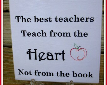 Teacher Quote Tile  Teachers Gift  Teacher Appreciation