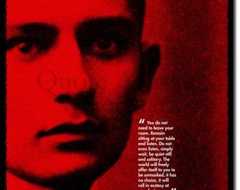 Franz Kafka Original Art Print - 12x8 Inch Photo Poster Gift  Quote