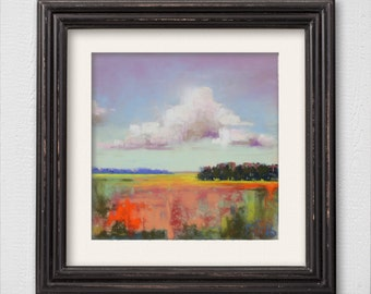 """Original Pastel Painting """"Abstract Landscape"""""""
