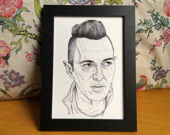 Joe Strummer The Clash Illustration Art Print