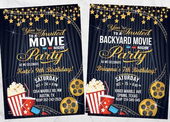 movie night invitation movie night birthday invitations movie night invitations movie night party movie night invites movie night