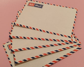 5 vintage envelopes AIR MAIL