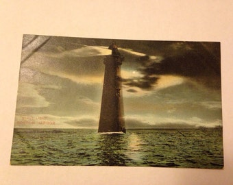 Old Postcard Minot Light Boston Harbor 1900's