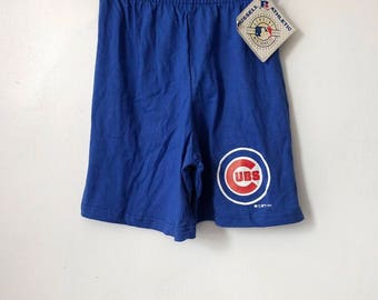 vintage chicago cubs russell athletic shorts youth size small deadstock NWT 1992 made in USA