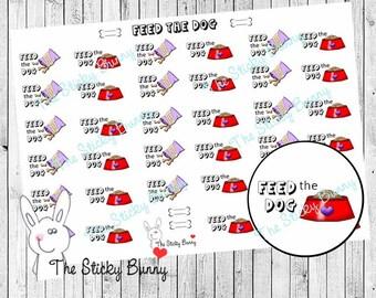Feed the Dog - Planner Stickers for Erin Condren, Happy Planner, Kikkik, Filofax (S031)