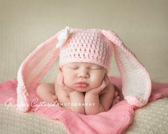 Crochet Bunny Hat, Crochet Baby Bunny Hat, Bunny Photo Prop, Baby Bunny Costume, Photo Prop Costume, Crochet Newborn Bunny Hat, Youth
