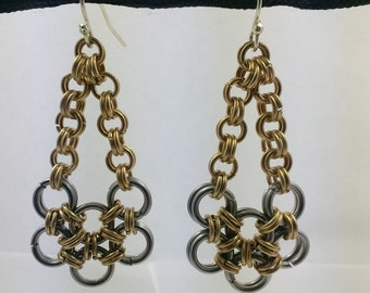 Japanese Style Chainmail Earrings
