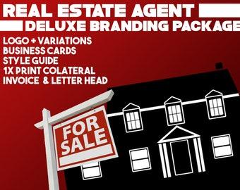 Real Estate Agent Broker, Branding Package, Marketing Package, Business Cards, Branding Kit, Marketing Kit, Brand Package