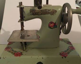 Sew master toy sewing machine 1950's