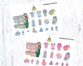 Baby Shopping Sticker Set