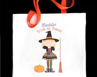 Halloween trick or treat bag, candy bag, halloween party favors, witch party favors, witch party gifts