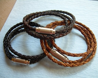 Leather Bracelets for Men, Mens Leather Bracelets, Mens Bracelets, Leather Bracelets, Mens Wrap Bracelet, Braided Bracelet, Magnetic Clasp,