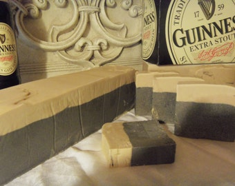 6 Beer Soaps.DOUBLE Guinness 4.25oz to 4.5oz each Made to look like a pint of Beer with foam head spilling to the side man guy