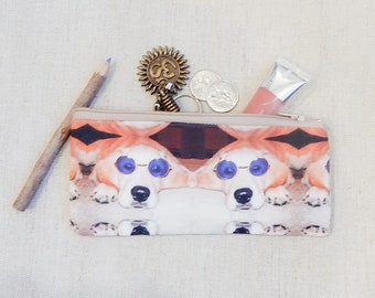 Make Up Bag/ Dog Gift for Her/ Gift for Dog Lover/ Gift for Mom/ Mother Day Gift/ Pencil Case/ Best Friend Gift/ Birthday Gift/ Teacher Gift