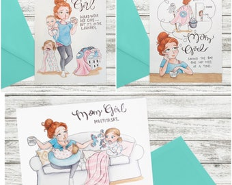 MomGirl Greeting Cards | Pre-Order Listing | Mother's Day Cards!