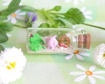 Miniature good luck bottle lucky charm glass bottle homedecoration mini gift