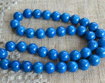 100pcs 8mm Riverstone Light Blue Natural Gemstone Beads Round 2x16 Inches Strand