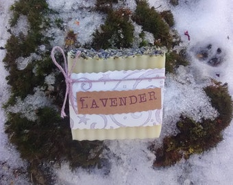 Lavender Handcrafted Soap - All Natural Soap, Handmade Soap, Vegan Soap, Cold Process Soap