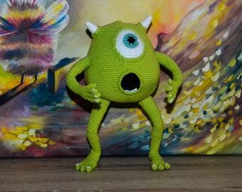 Mike Wazowski / Amigurumi doll / Crochet doll / Handmade doll / Men toy / Monster doll / Cyclops toy